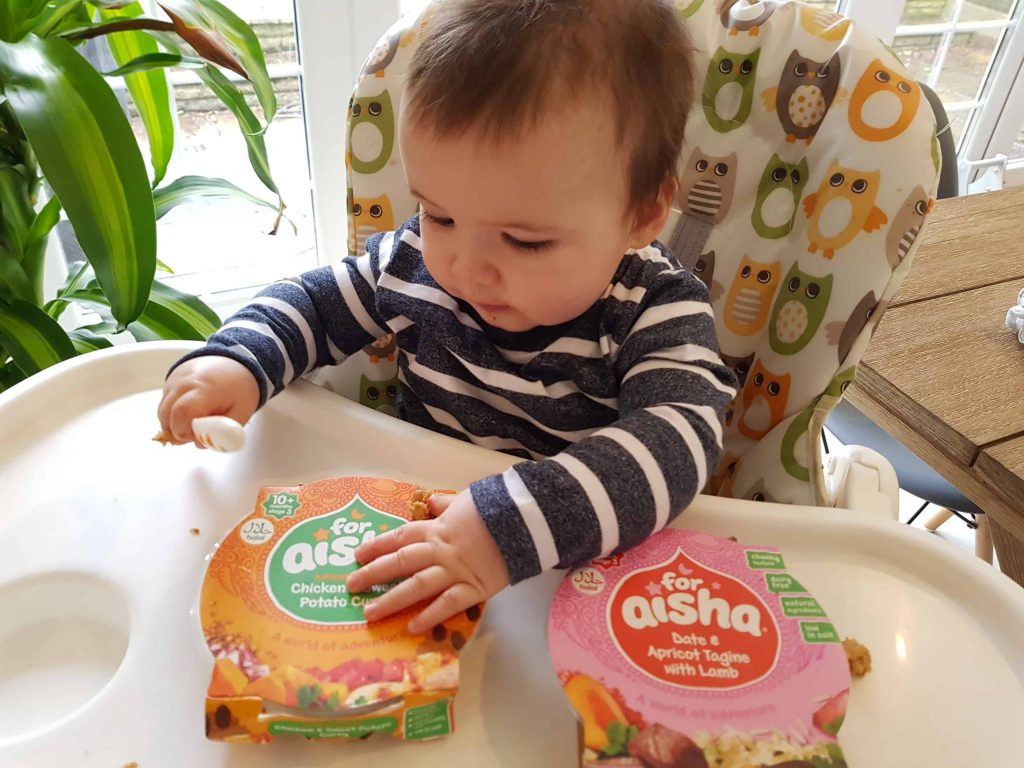 Arlo's taste adventure with for aisha