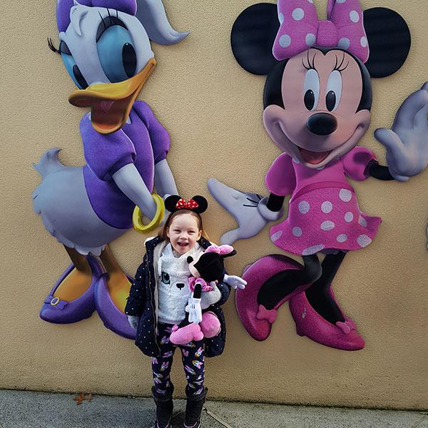 Little girl in Disneyland