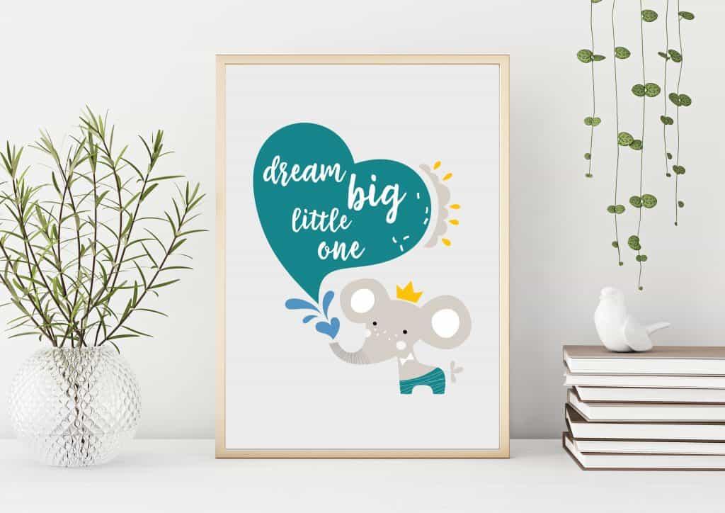 Dream Big Little One Print - Nursery Decor
