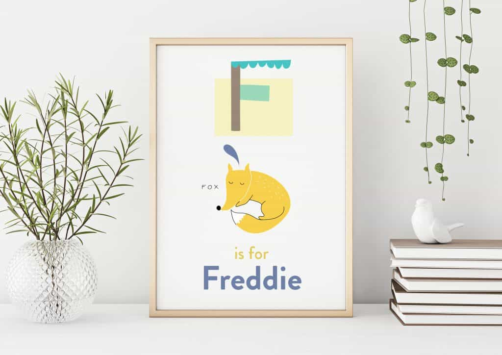 Personalised Childrens Alphabet Print
