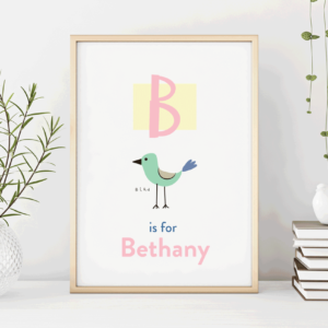 Childrens Alphabet Name Poster