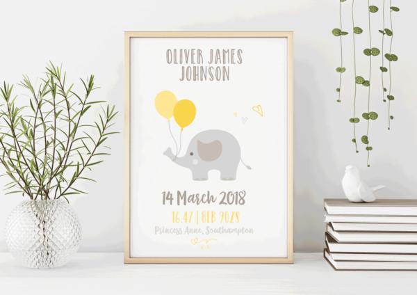 New Baby Boy Print