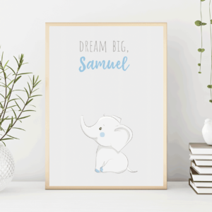 Baby Boys Personalised Elephant Print
