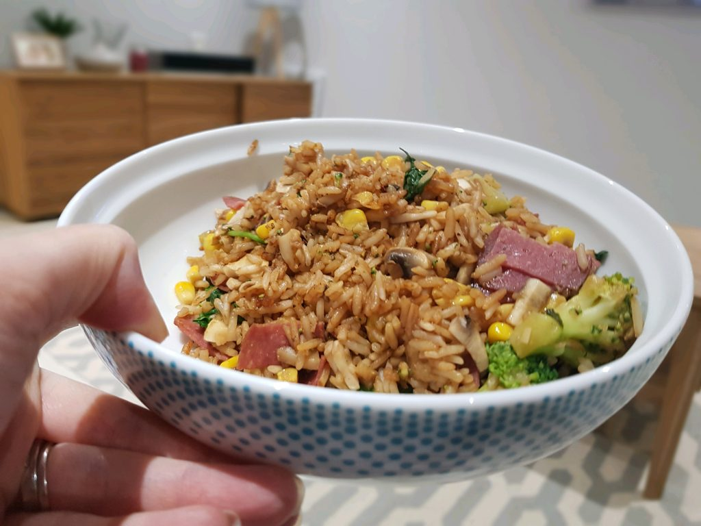 egg fried rice and vegetables - slimming world recipe