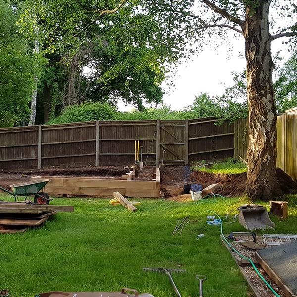garden being renovated
