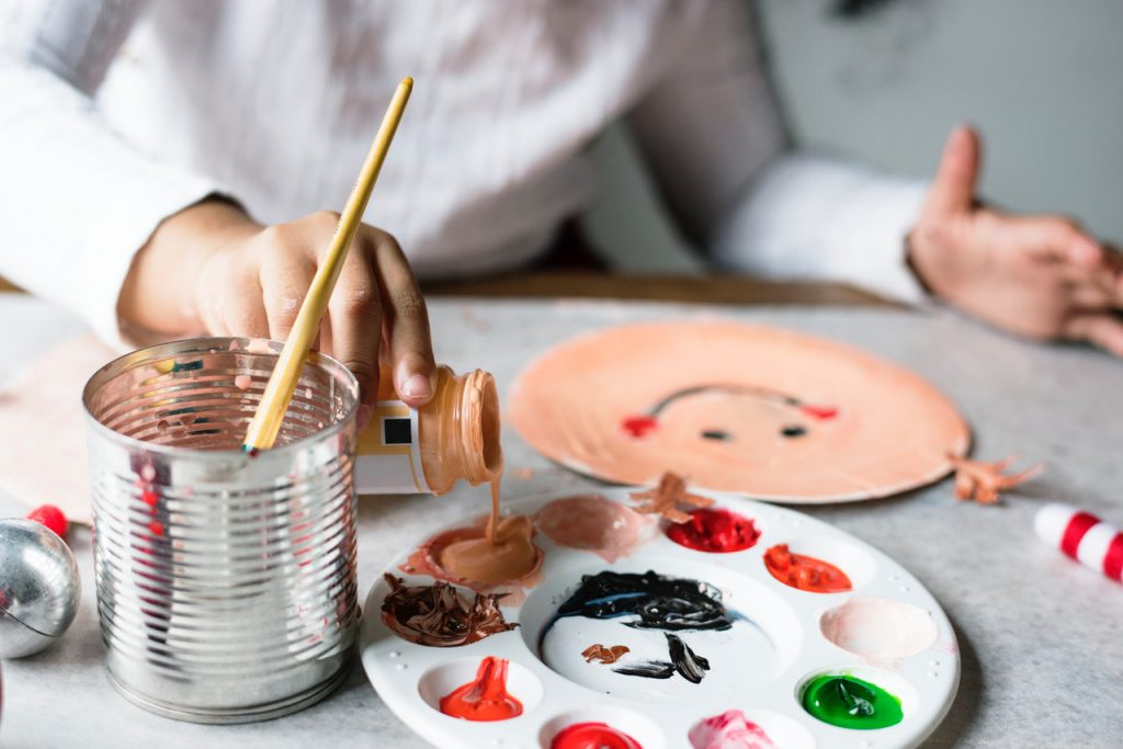 Activities with the kids - painting