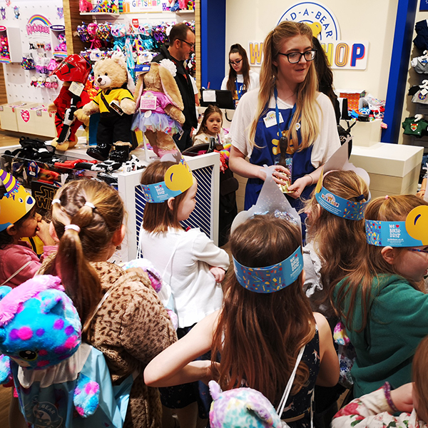 group of children at build a bear