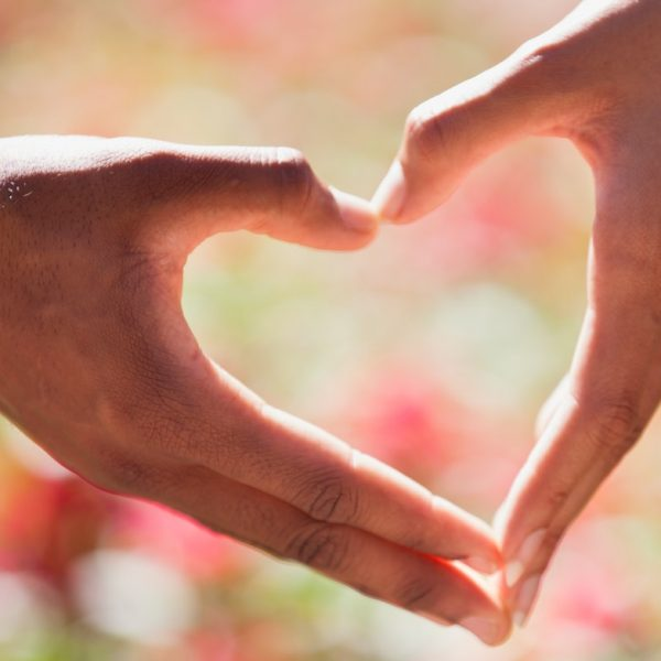 wish list hands in the shape of love heart