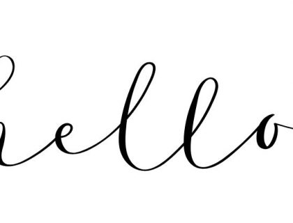 font style - hello