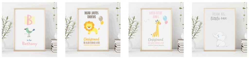 mockup - row of childrens prints
