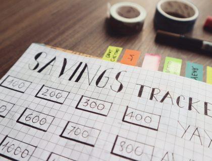 finance plan - savings tracker