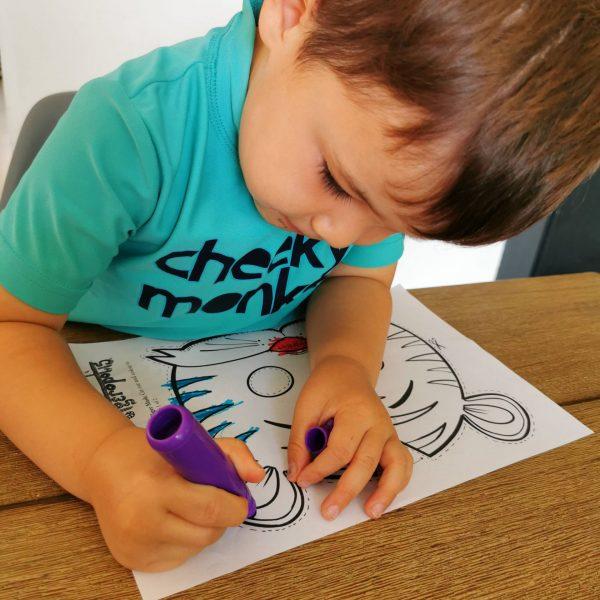 Boy colouring