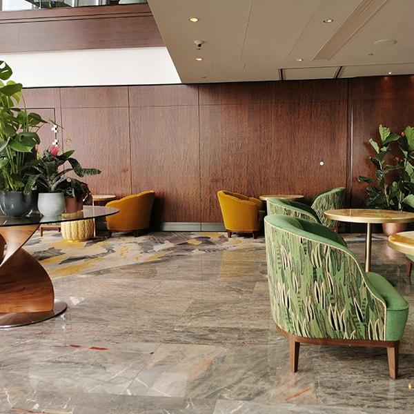 communal area inside shard hotel