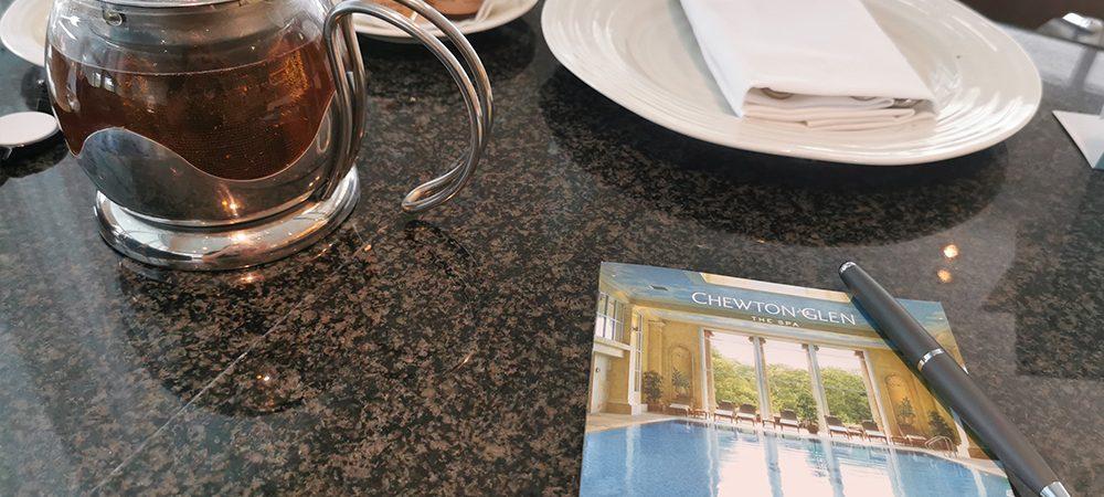 breakfast table at Chewton Glen