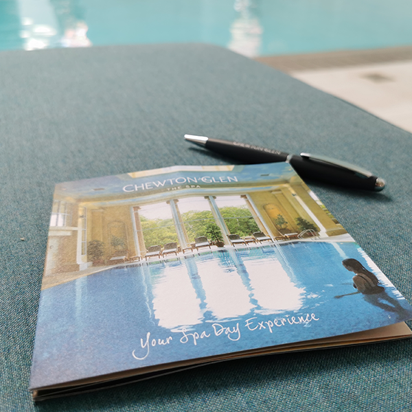 spa day experience booklet
