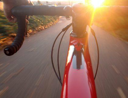 handlebars of a bike