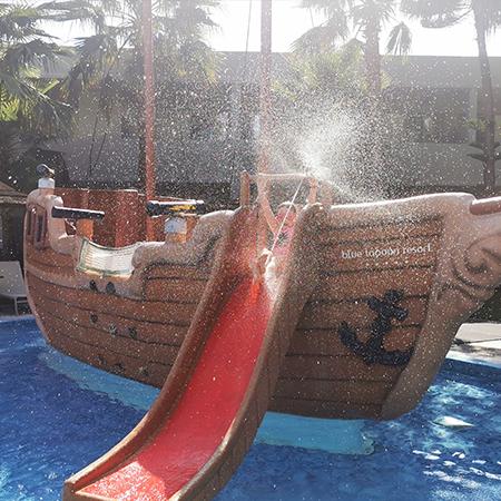 blue lagoon pirate ship