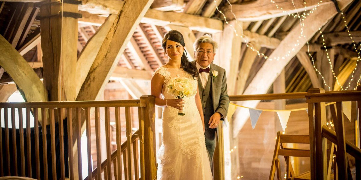 father and daughter wedding day