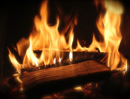 heat a home - fireplace
